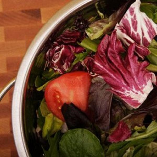 Mixed greens with maple vinaigrette