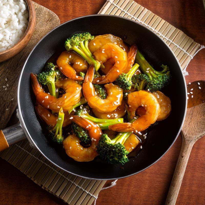 Frozen seafood stir-fry