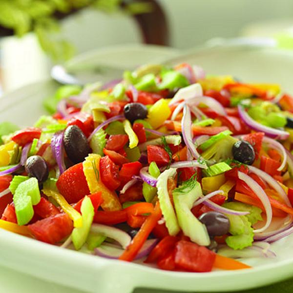 Salads For Christmas.Festive Christmas Salad