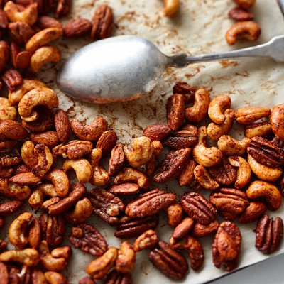 Sweet and spicy nuts appetizer recipe