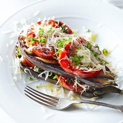 Barbecued eggplant Parmesan
