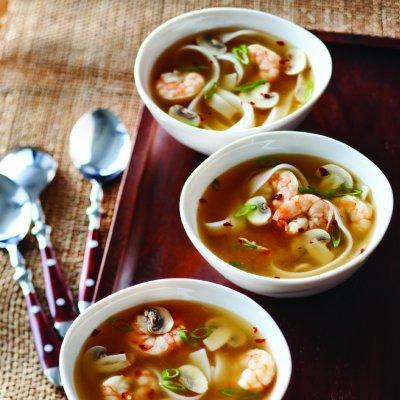 Hot-and-sour shrimp soup