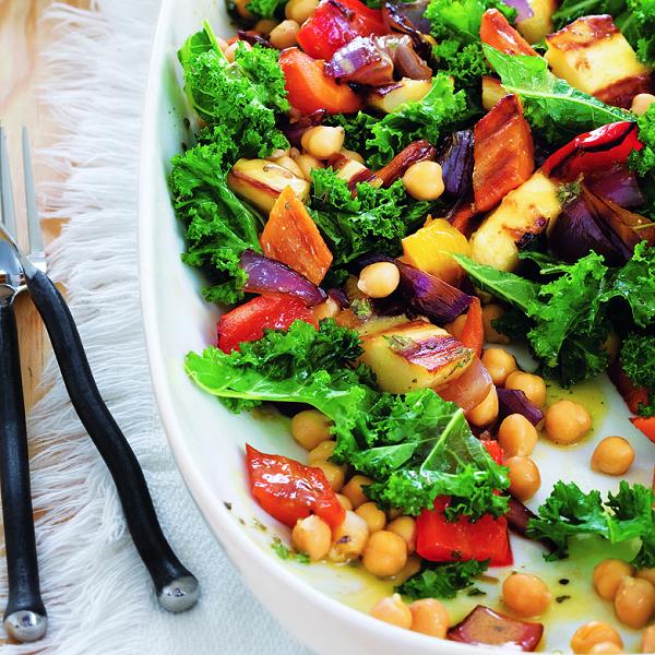 Roasted-vegetable salad