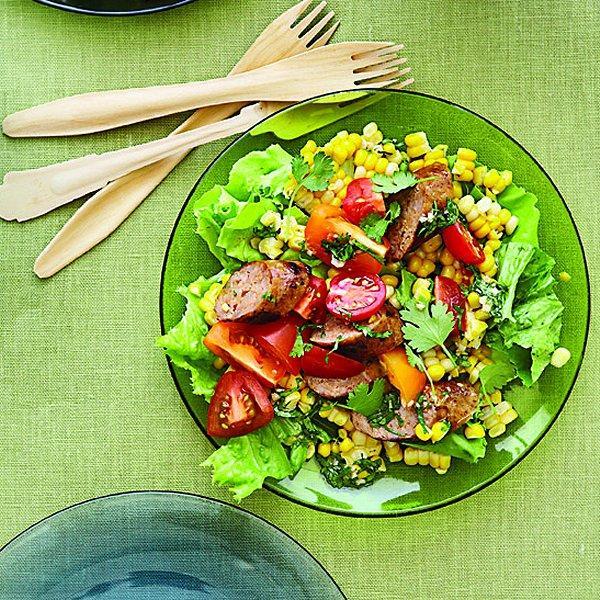 Sausage and corn salad
