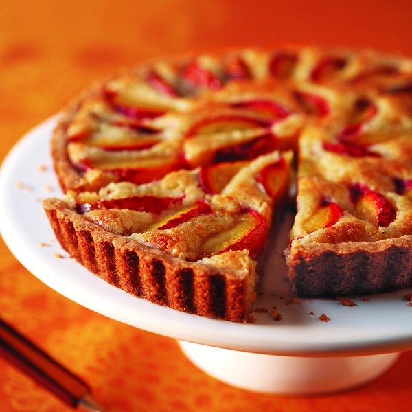 Tangy plums nestled in a melt-in-your-mouth almond filling on a no-fail shortbread crust? This tart is perfect for after-dinner lingering.