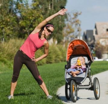 stroller fitness, stroller workout, baby weight burn