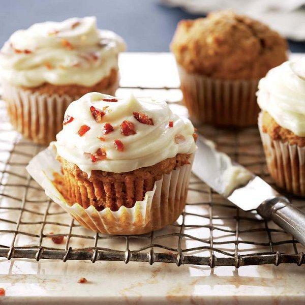 Pumpkin Cupcakes With Maple And Bacon Icing Recipe