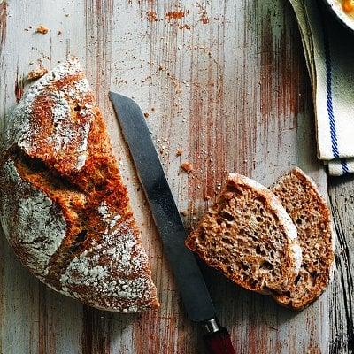 4-Ingredient No-Knead Bran Bread