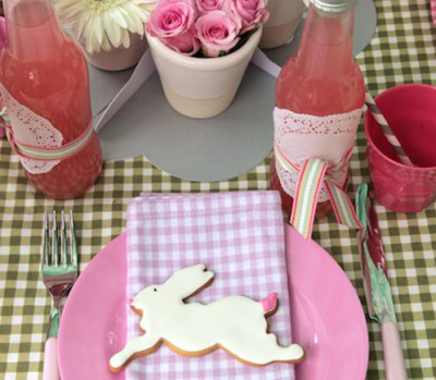 Easter table setting, country