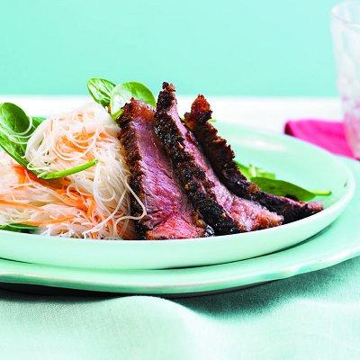 Sesame ginger steak and noodle salad