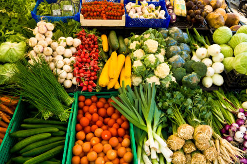 farmers' market, vegetables, produce