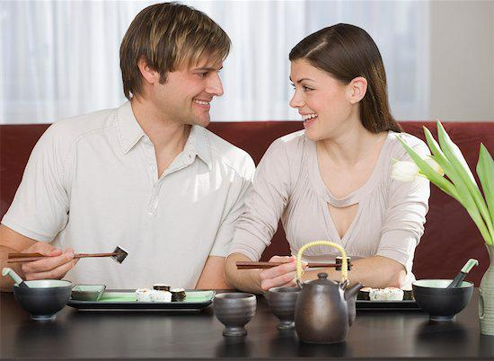 Do you sit beside your partner when you're at a restaurant?