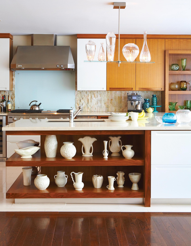 1. Use your island to display dinnerware