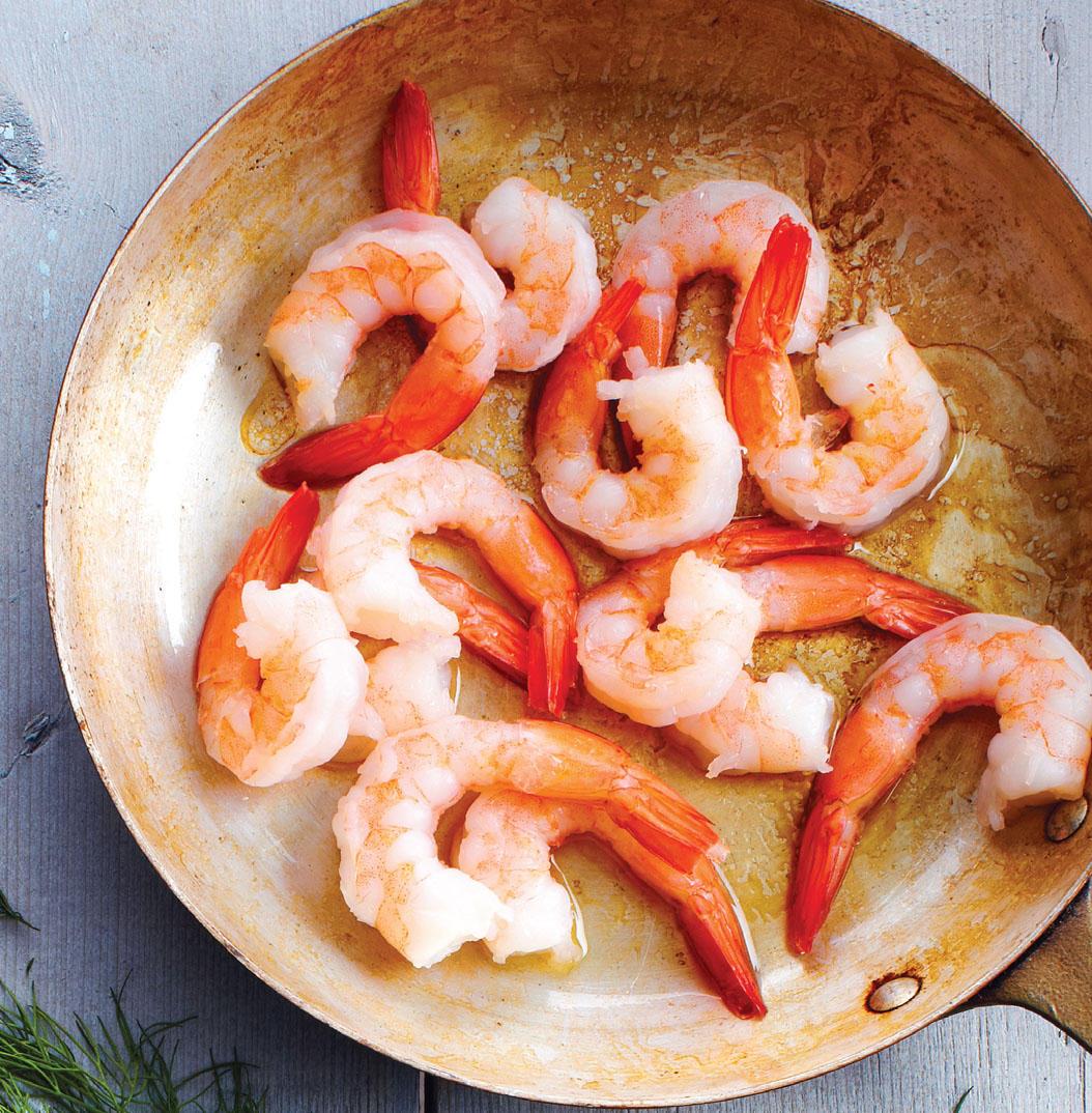 leftover ingredients, loose ends, shrimp, seafood