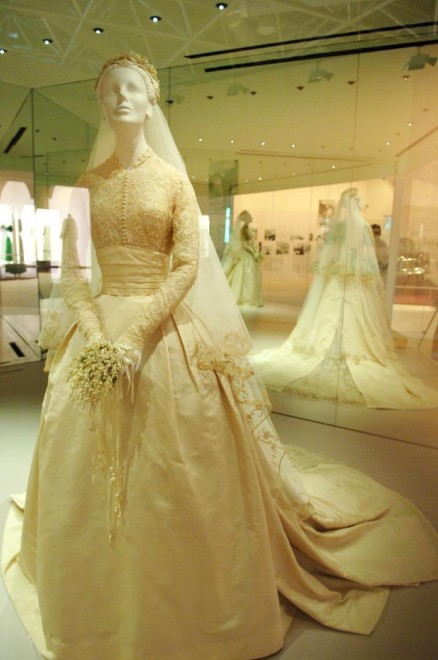 An exact replica of Grace Kelly's Helen Rose-designed wedding gown