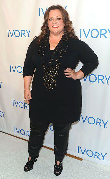 Melissa McCarthy, Keystone Press, fashion, style, plus size, slim fit