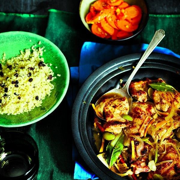 Chicken tagine with oranges and olives