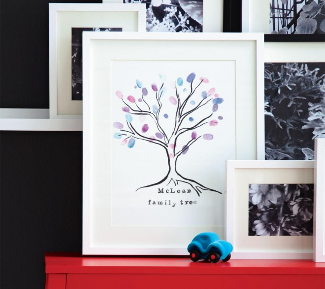 family tree art project, kid-friendly art project