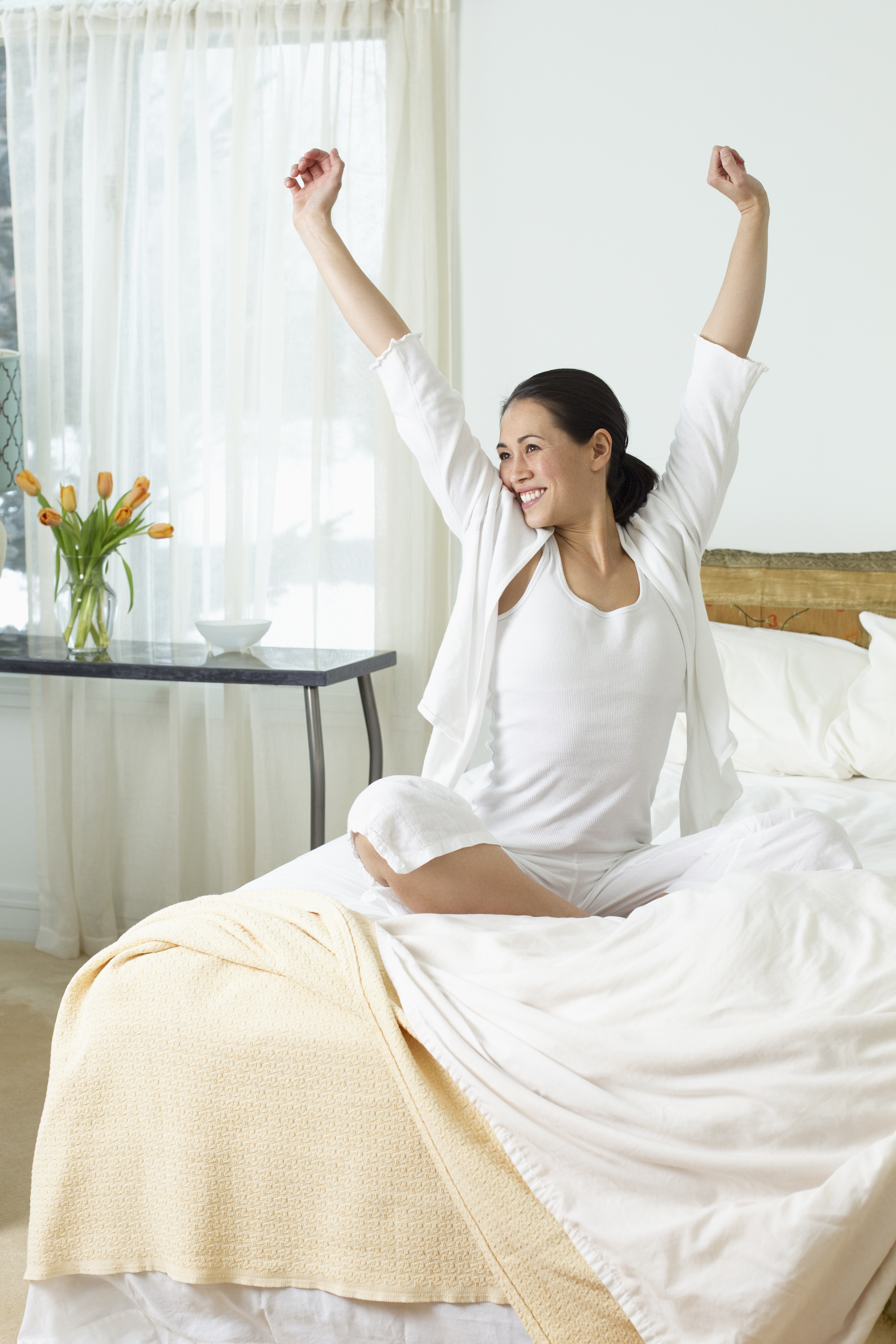 Men Get Out Of Bed Early In The Morning