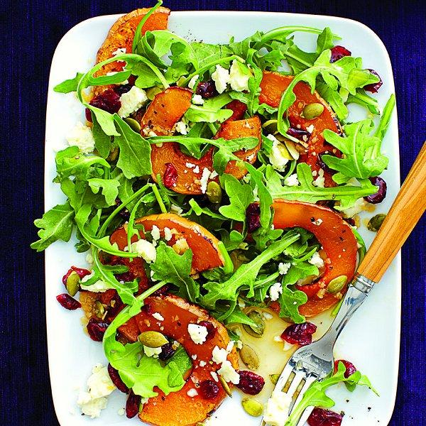 Roasted squash salad with cranberries