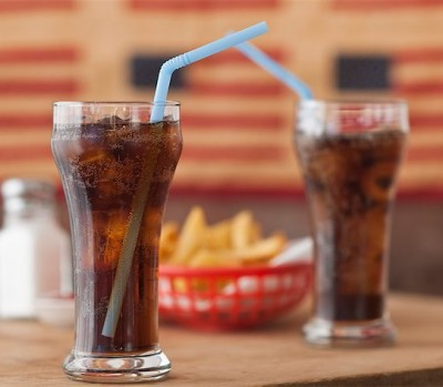 soda, pop cola and fries
