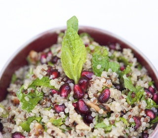 Pomegranate tabouli recipe with pecans