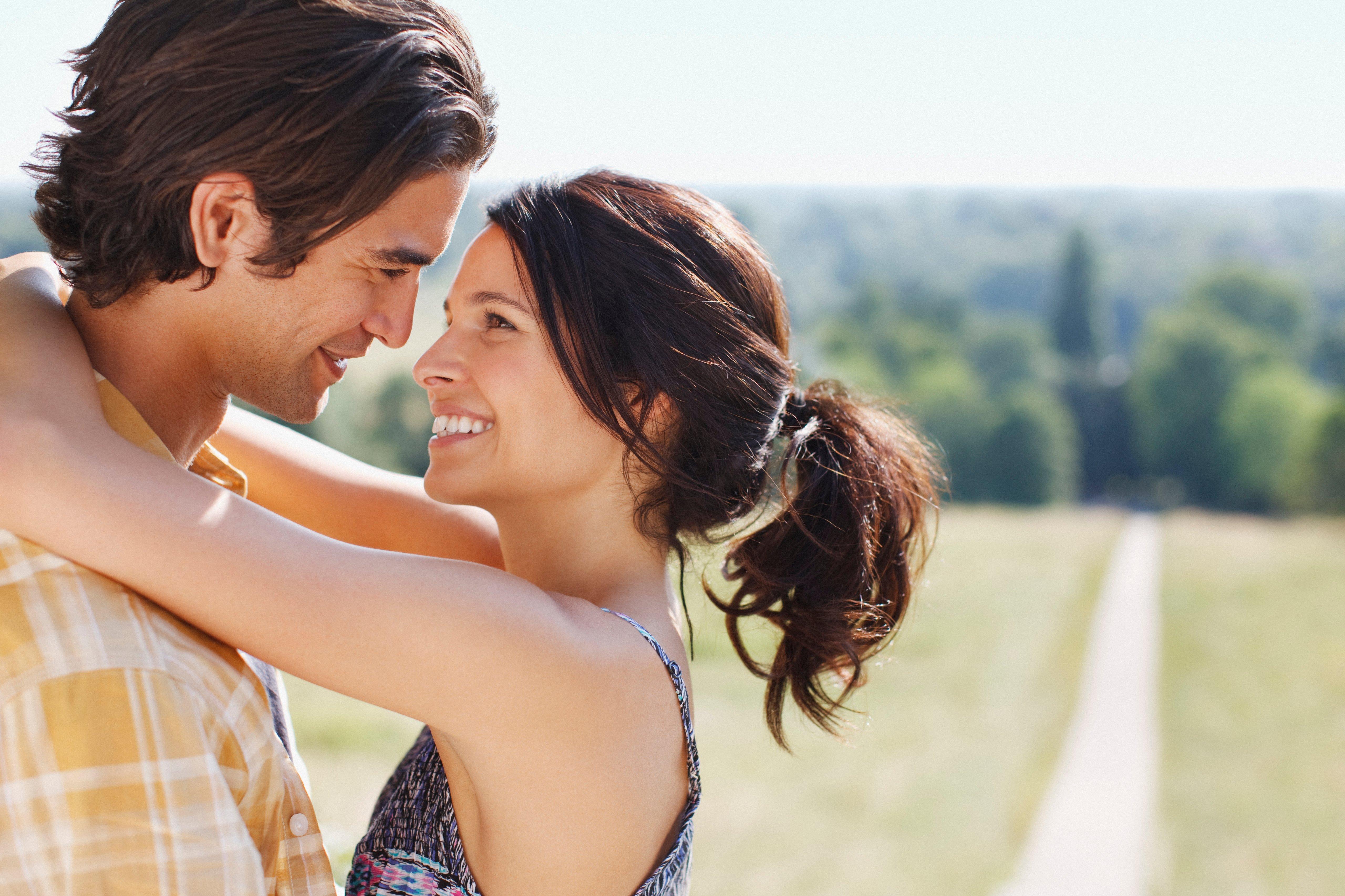 happy couple, romantic, outdoors, love
