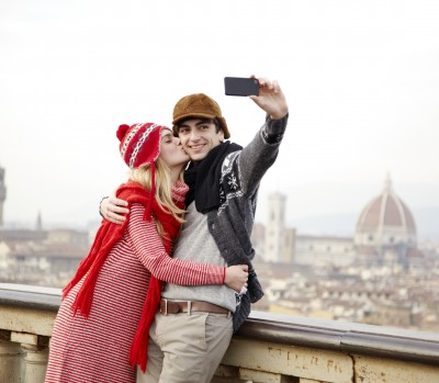 couple, travel, camera