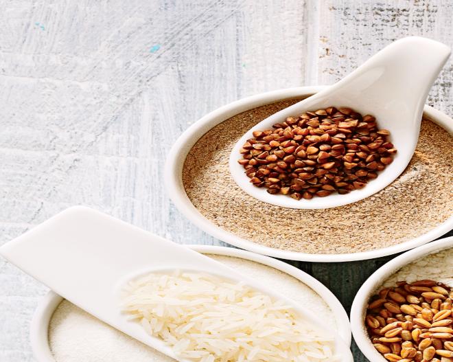 High-fibre grains