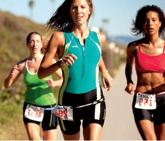 woman runner in race