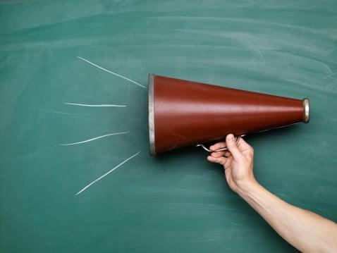 megaphone, communication, effective speaking