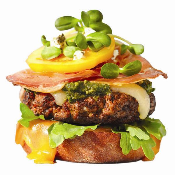 Gourmet cheeseburger