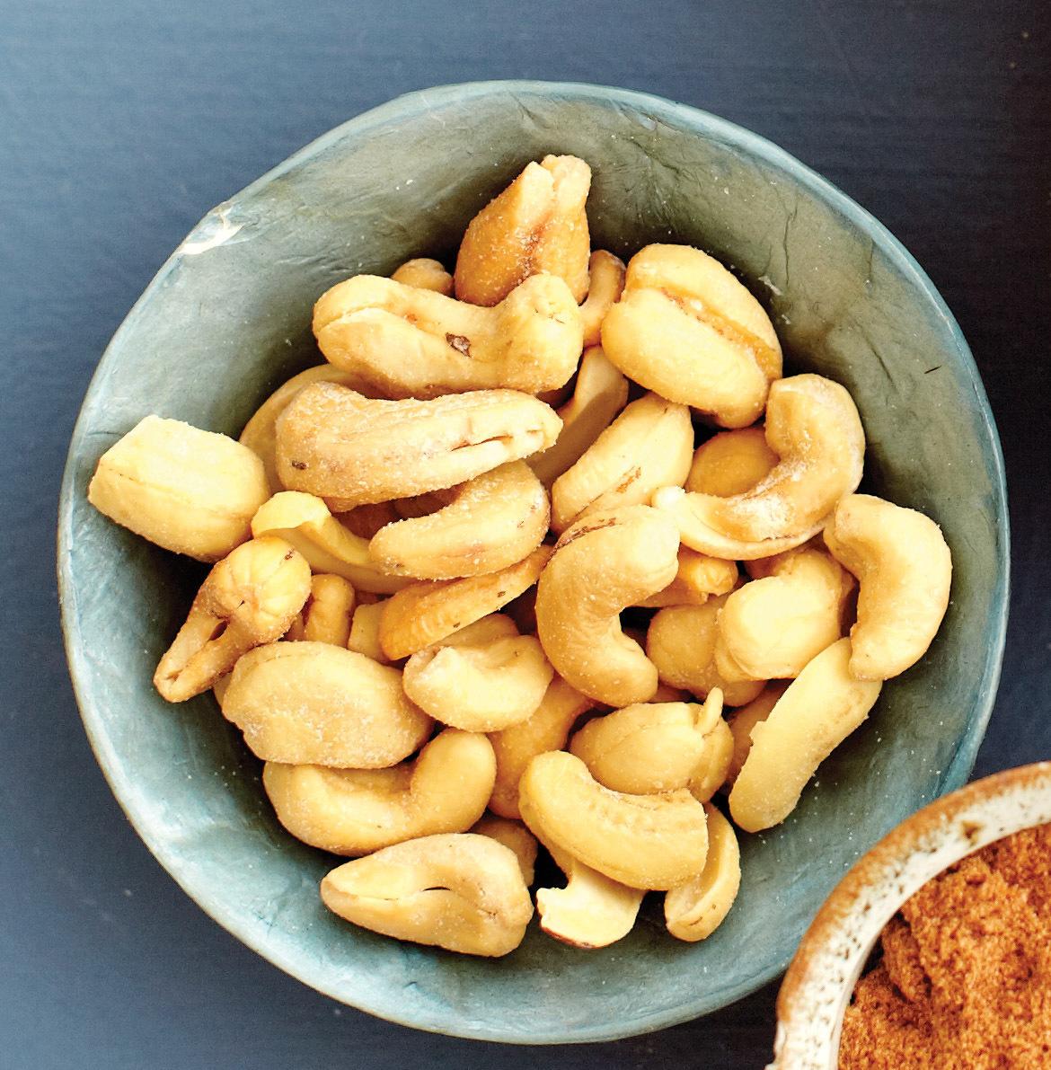 Bowl of roasted cashews