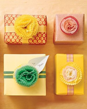 gift wrapping DIY  idea from Babble