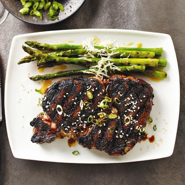 Anju's marinated rib-eye steak