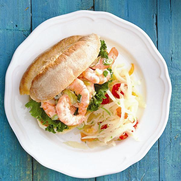 Easy Shrimp Sandwich Recipe Chatelaine Com