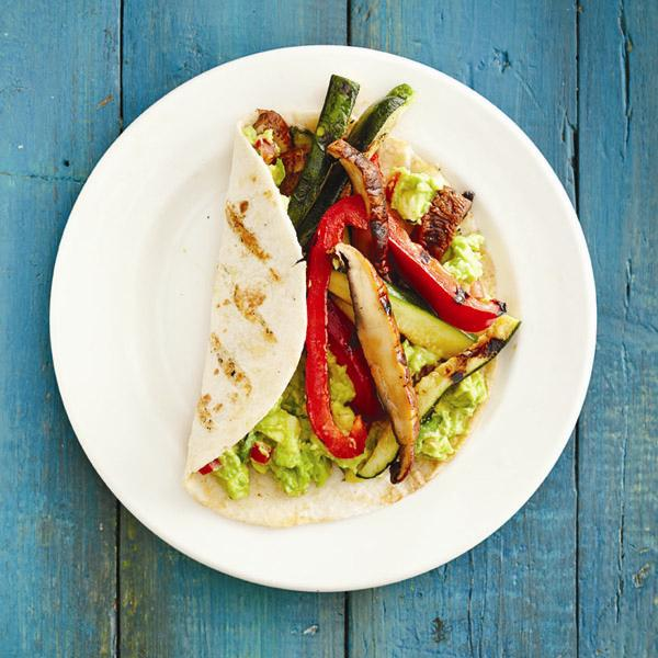 Grilled vegetable fajitas.Photo, Roberto Caruso.