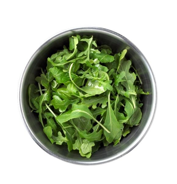 Arugula greens in a bowl