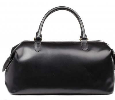 Smooth black doctor's bag purse, dr. bag