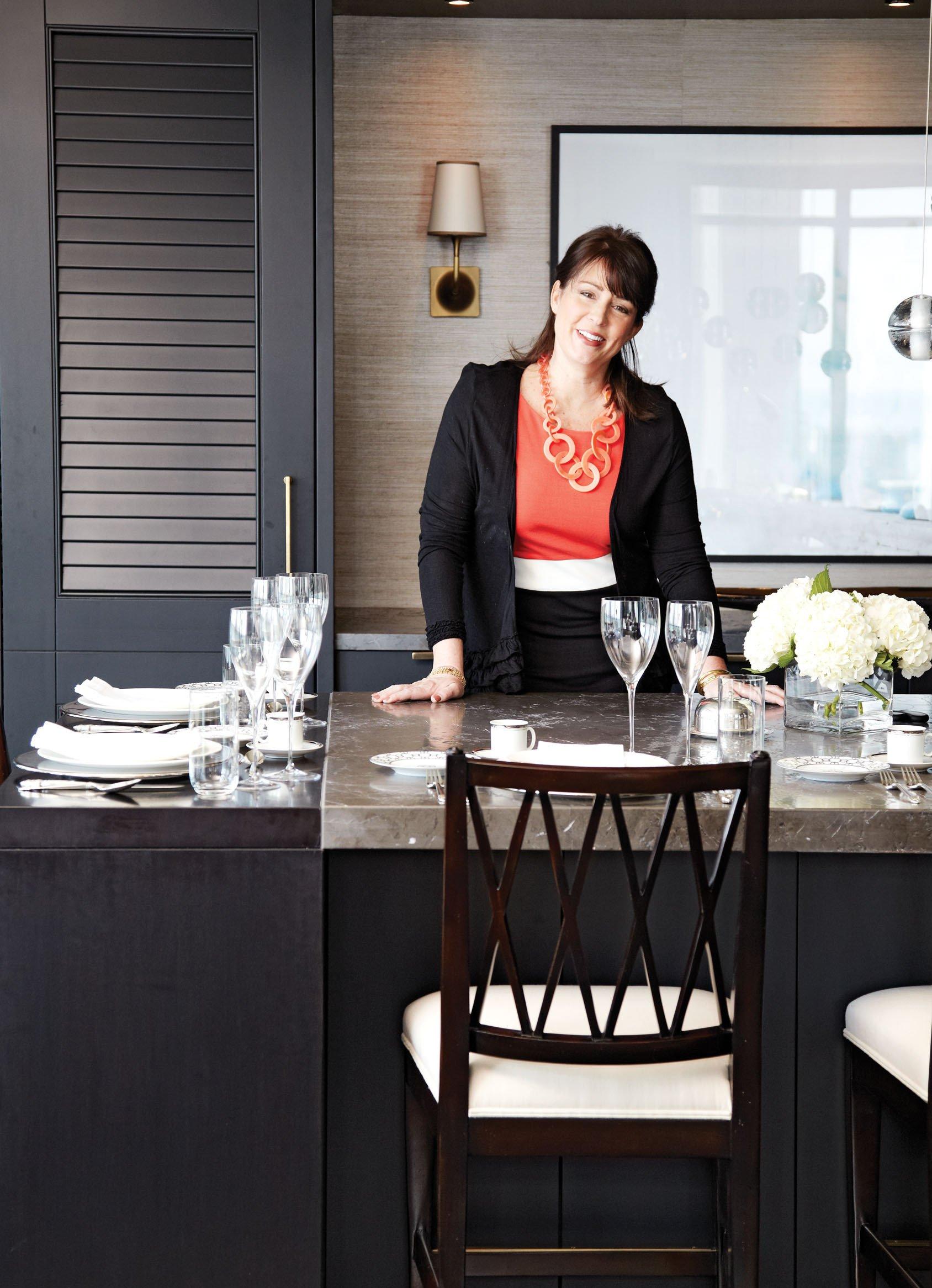 Kimberley Seldon in her condo's kitchen