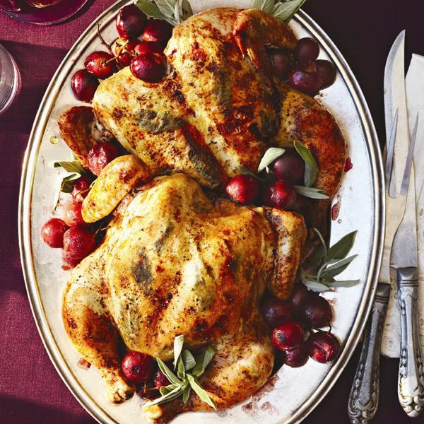 Spatchcock Roast Chicken With Grapes Recipe Chatelaine Com