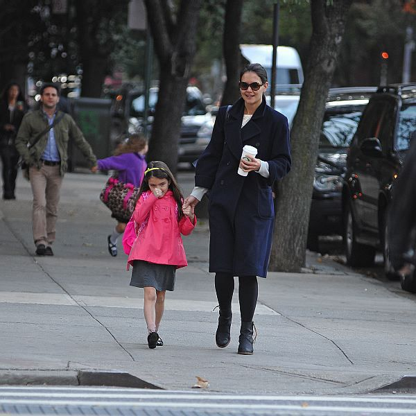 Katie Holmes and Suri in New York October