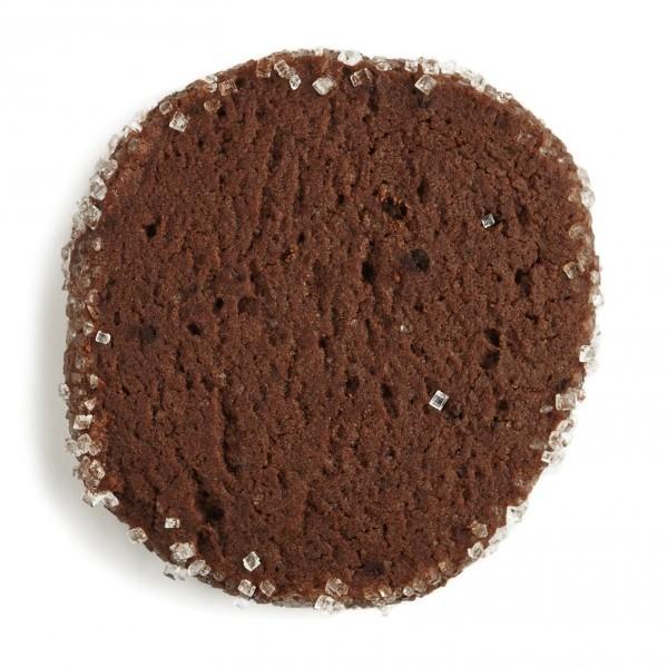 Sugar-crusted chocolate slice cookies