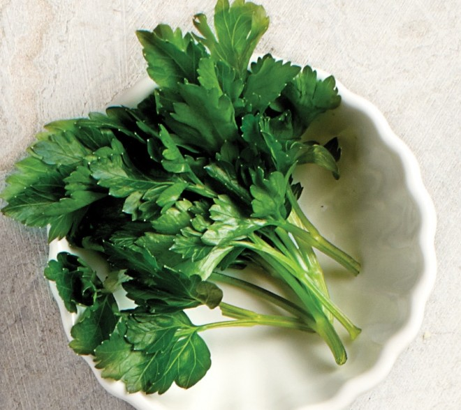 Bowl of parsley