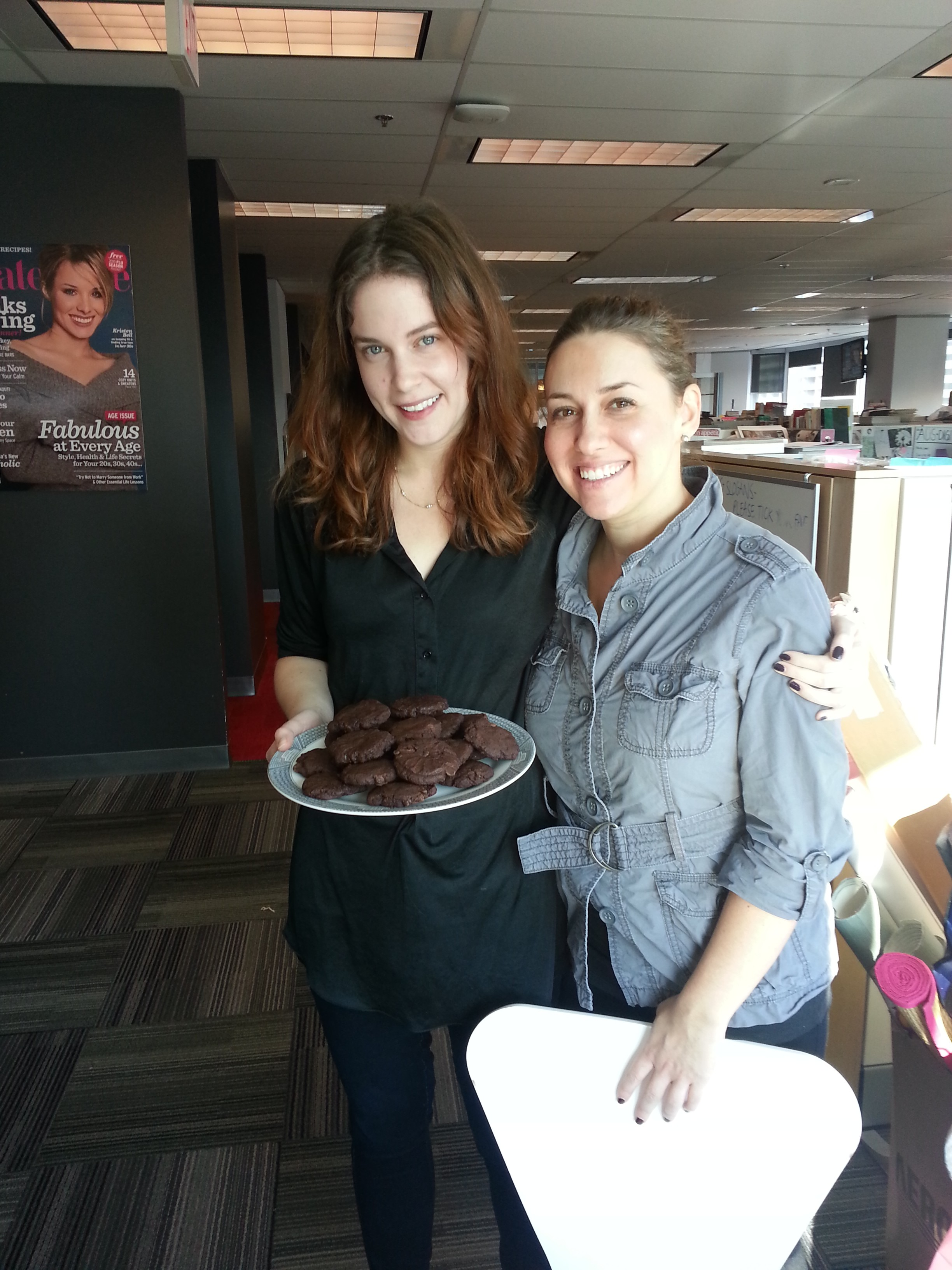 Chocolate cookies for the office #kindcycle