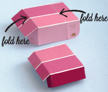Gift wrapping idea how to make a paint chip diy gift box advertisement negle Image collections