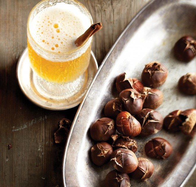 Christmas ale and easy roasted chestnuts