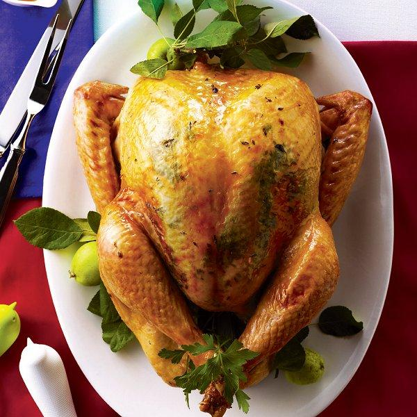 Maple and herb roast turkey with sherry gravy