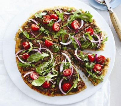 Middle eastern lamb pizza recipe