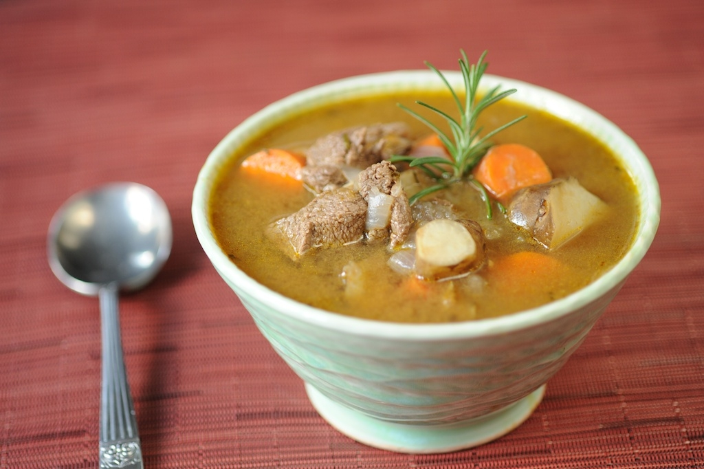 Hearty Sunchoke Venison Stew by Julie Daniluk